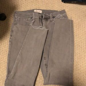 Madewell high rise skinny garment dyed
